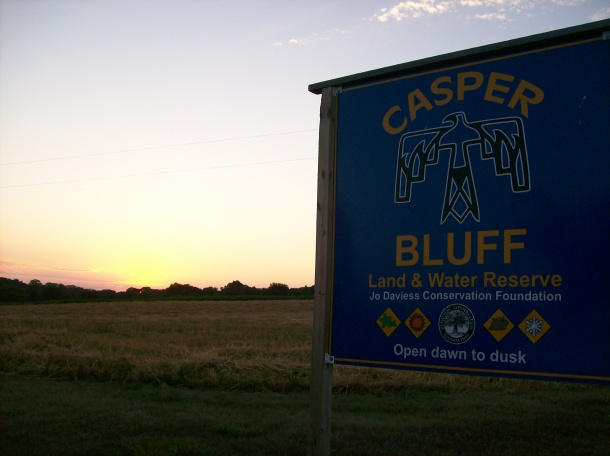 Casper Bluff, the real-life inspiration for the Nimiki Bluff in my story.