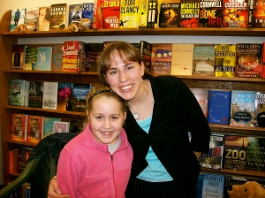 Maddie and me. Hope you enjoy the book, Maddie!
