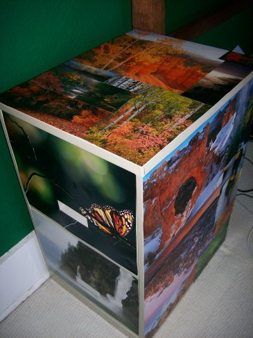 Revamped filing cabinet!