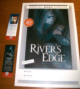 Two-sided bookmarks and new posters for book signings!