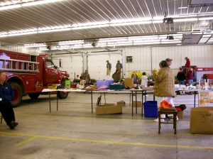 Vendors in Cisne Fire Station.