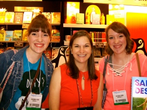 We almost missed Sarah Dessen's signing. She was nice enough to stick around and sign all our books. Such a sweetheart!